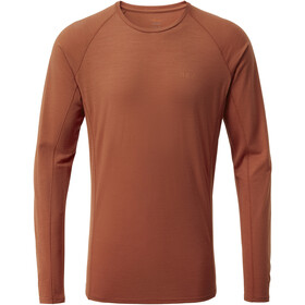 Rab Forge Langærmet T-shirt Herrer, red clay